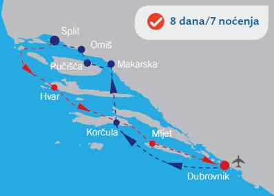 Krstarenje iz Dubrovnika brodom Afrodita Eden