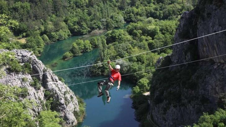 Zipline adrenalinska avantura Omiš