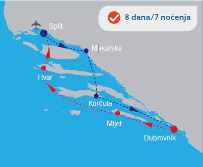 Krstarenje iz Splita brodom Eden Ocean Afrodita